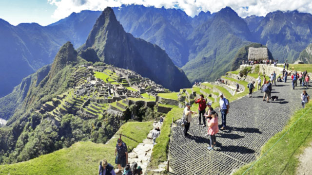 Machu Picchu at end of first day