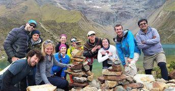 Group Picture At Humantay Lake