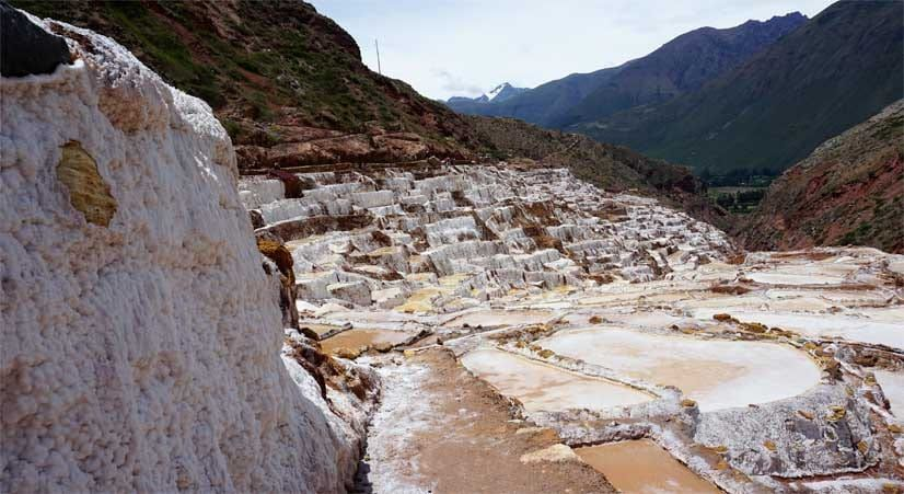 natural salt mines in maras, visit the sacred valley