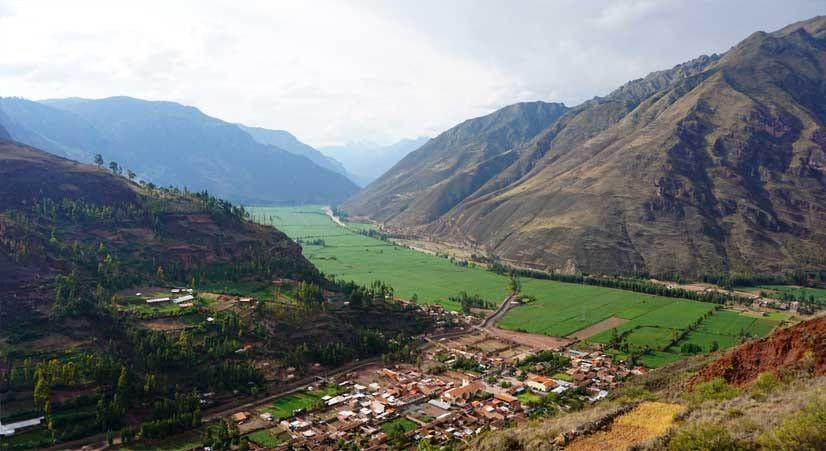 sacred valley of the Incas and andes mountains