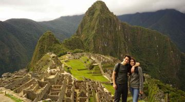 Machu Picchu sunrise after salkantay trek