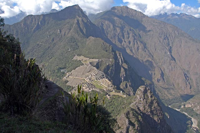 View of Machu Picchu from the Huayna Picchu Mountain